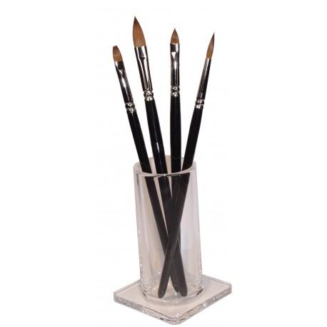 Akrylátový stojánek na kosmetické štětce